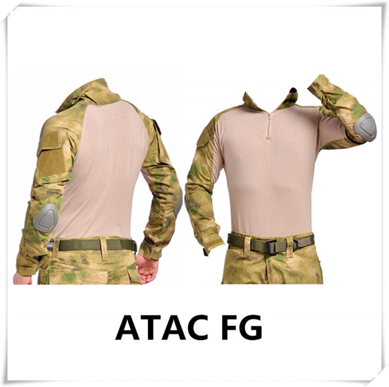Arbeitskleidung Tarnung uniform us army combat shirt multicam Airsoft paintball militar taktische bekleidung mit knieschützer Herstellung Hersteller, Lieferanten, Exporteure, Großhändler